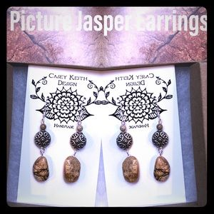 Casey Keith Design Jewelry - Picture Jasper Earrings I